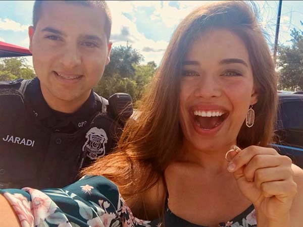 Police Officer Scours Beach During Wee Hours to Find Engagement Ring… and Succeeds