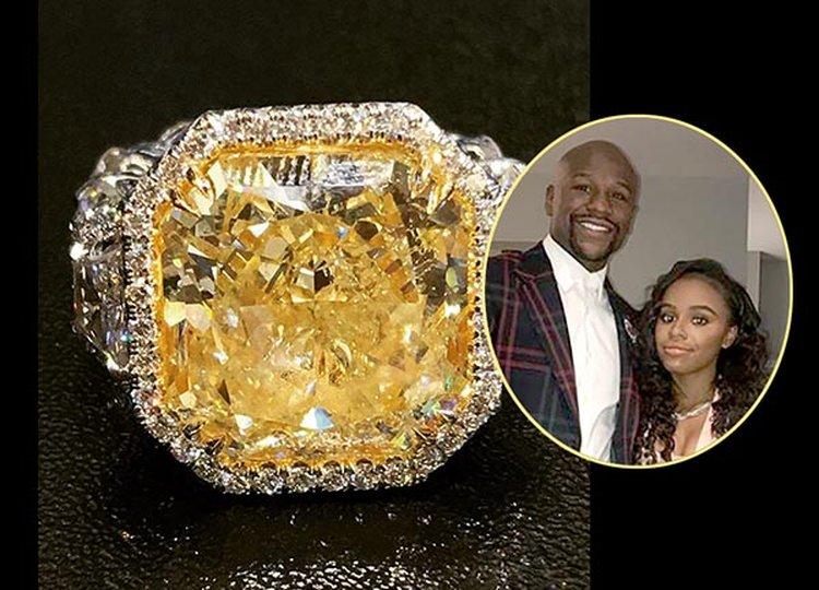 Floyd Mayweather Gives Daughter 18-Carat Canary Diamond Ring for Her 18th Birthday